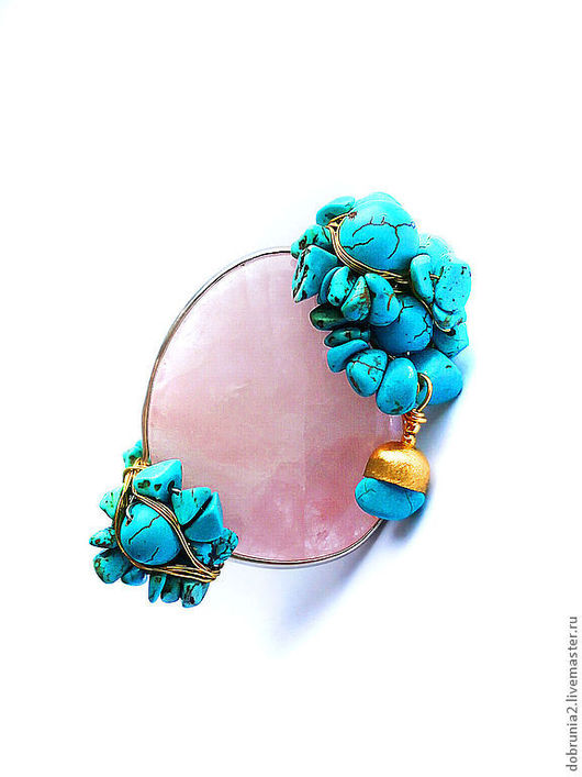 """Кольца ручной работы. Ярмарка Мастеров - ручная работа. Купить Кольцо """"Вивьен"""". Handmade. Бледно-розовый, колье"""