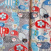 Материалы для творчества ручной работы. Ярмарка Мастеров - ручная работа Лён корейский с котами. Handmade.