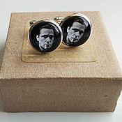 Украшения handmade. Livemaster - original item Cufflinks silver plated Humphrey Bogart. Handmade.