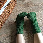 """Аксессуары ручной работы. Ярмарка Мастеров - ручная работа Носки из альпаки """"Зелёный лес"""". Handmade."""
