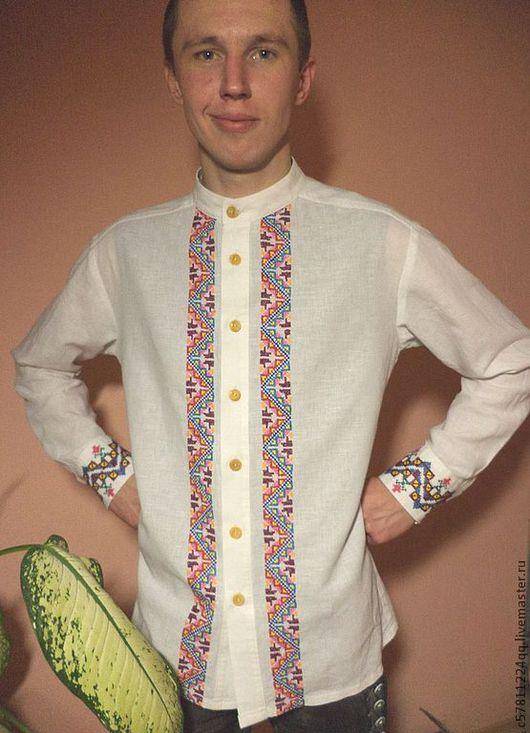 """Для мужчин, ручной работы. Ярмарка Мастеров - ручная работа. Купить Рубаха """" Казак"""". Handmade. Белый, мужчине, рубашка"""
