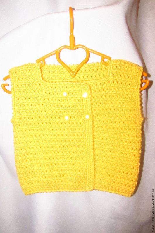 Одежда ручной работы. Ярмарка Мастеров - ручная работа. Купить Жилет для малышки. Handmade. Желтый, жилетка, жилетка для малышки