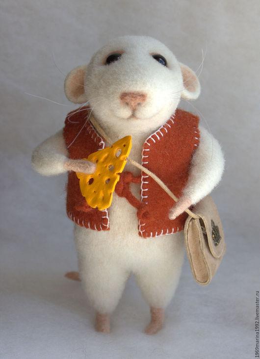 Игрушки животные, ручной работы. Ярмарка Мастеров - ручная работа. Купить Крысик белый.. Handmade. Белый, игрушка ручной работы