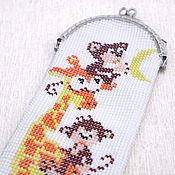 Сумки и аксессуары handmade. Livemaster - original item The beaded eyeglass case (glasses case) Giraffe. Handmade.