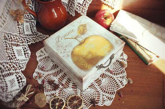 Кухня ручной работы. Ярмарка Мастеров - ручная работа. Купить Короб для чайных пакетов 'Pomme'. Handmade. Голубой, чайный короб