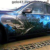 """Дизайн и реклама ручной работы. Ярмарка Мастеров - ручная работа Аэрография на  BMW7 """"Чужой"""". Handmade."""