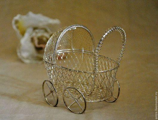 Куклы и игрушки ручной работы. Ярмарка Мастеров - ручная работа. Купить Миниатюрная детская коляска (Аксессуар для Тедди и их друзей). Handmade.
