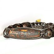 Украшения handmade. Livemaster - original item Shamballa bracelet eye of the Buddha from the skin 3. Handmade.