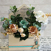 Цветы и флористика handmade. Livemaster - original item Interior arrangement Letter. Handmade.