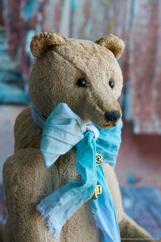 Artist toy Teddy bear Creme Brulee created with beige vintage plush, Teddy Bears, Kazan,  Фото №1