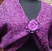 Одежда ручной работы. Ярмарка Мастеров - ручная работа Болеро-жилет Фиолетовый. Handmade.