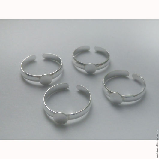 Разъемная основа для кольца с площадкой (серебро 925 пробы)