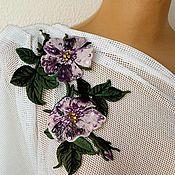 Материалы для творчества handmade. Livemaster - original item Embroidered applique with rhinestones. Fabiana. Handmade.