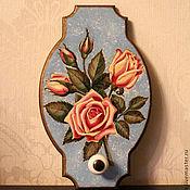 """Для дома и интерьера ручной работы. Ярмарка Мастеров - ручная работа Панно-вешалка """" Ах, эти розы..."""". Handmade."""