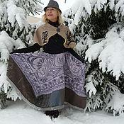 Одежда ручной работы. Ярмарка Мастеров - ручная работа Зимний квадрат. Handmade.