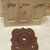 """Для дома и интерьера ручной работы. Ярмарка Мастеров - ручная работа Коврик """"Плитка"""" вязаный из шнура. Handmade."""