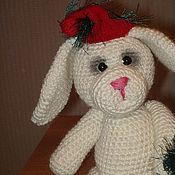 Куклы и игрушки ручной работы. Ярмарка Мастеров - ручная работа Новогодний зайка. Handmade.