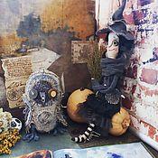 Куклы и игрушки ручной работы. Ярмарка Мастеров - ручная работа Ведьмочка и сова. Handmade.