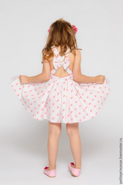 Одежда для девочек, ручной работы. Ярмарка Мастеров - ручная работа. Купить летнее платье. Handmade. Розовый, ретро, платье летнее