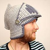 Аксессуары ручной работы. Ярмарка Мастеров - ручная работа шапка вязаная шлем Рыцаря благородного. Handmade.