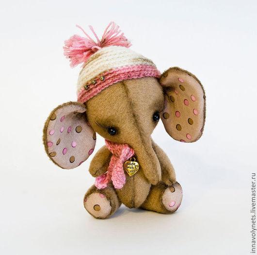 Мишки Тедди ручной работы. Ярмарка Мастеров - ручная работа. Купить Слонишка. Handmade. Бежевый, игрушка, подарок девушке, шерсть