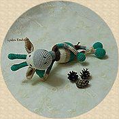 Куклы и игрушки ручной работы. Ярмарка Мастеров - ручная работа Полосатый Жирафик. Handmade.