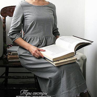 """Одежда ручной работы. Ярмарка Мастеров - ручная работа Платье """"Три сестры"""" в клеточку. Handmade."""