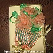 """Подарки к праздникам ручной работы. Ярмарка Мастеров - ручная работа Коробочка для денег """"Букет роз"""". Handmade."""