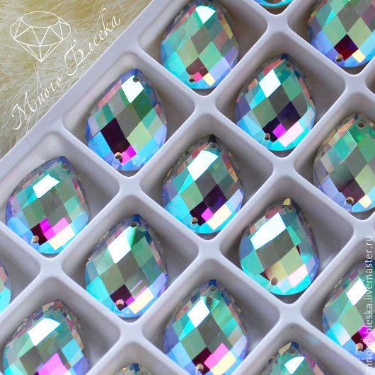 Для украшений ручной работы. Ярмарка Мастеров - ручная работа. Купить Стразы пришивные Капля кристалл ав огранка ромб 15х20мм. Handmade.