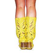 Обувь ручной работы. Ярмарка Мастеров - ручная работа Летние кожанные сапоги FIORE /желтые/. Handmade.