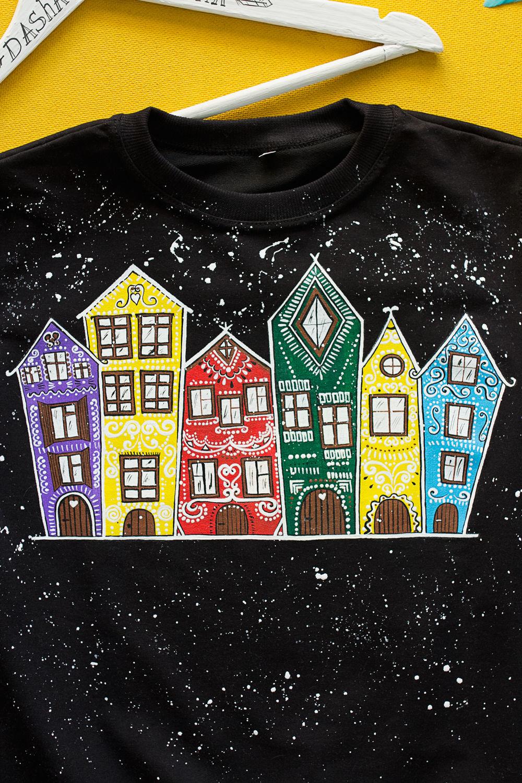 Свитшот с росписью Colorful Houses, Джемперы, Санкт-Петербург, Фото №1