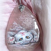 Украшения handmade. Livemaster - original item Pendant with painting on stone
