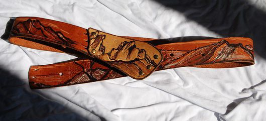 Belts handmade. Livemaster - handmade. Buy Zone 'Crimean Dali'.