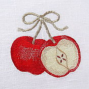 Для дома и интерьера handmade. Livemaster - original item pouch embroidered with the apples