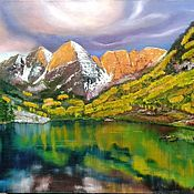 Картины и панно handmade. Livemaster - original item The sacred mountain Belukha. Handmade.