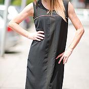 Одежда handmade. Livemaster - original item Little black dress with zipper on the back - DR0199PVCH. Handmade.