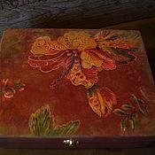 """Для дома и интерьера ручной работы. Ярмарка Мастеров - ручная работа Шкатулка """"Аленький цветочек"""". Handmade."""