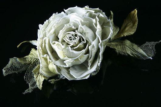 Свадебные украшения ручной работы. Ярмарка Мастеров - ручная работа. Купить Шелковая роза. Handmade. Роза из шелка, роза из шифона