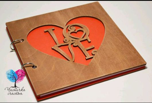 """Свадебные аксессуары ручной работы. Ярмарка Мастеров - ручная работа. Купить Деревянная книга пожеланий квадратная """"LOVE"""". Handmade."""