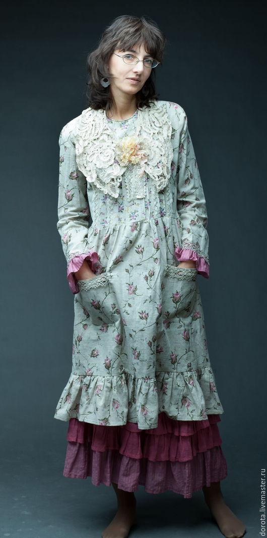 Платья ручной работы. Ярмарка Мастеров - ручная работа. Купить Платье-бохо.. Handmade. Платье-бохо, розы, платье с подъюбником