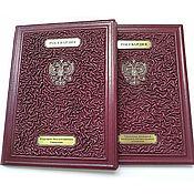 Канцелярские товары handmade. Livemaster - original item Personalized leather folder for documents with logo. Handmade.