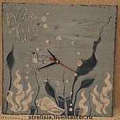 """Для дома и интерьера ручной работы. Ярмарка Мастеров - ручная работа """"Подводное царство"""" Часы настенные. Handmade."""