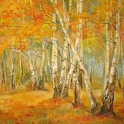Картины и панно ручной работы. Ярмарка Мастеров - ручная работа Золотая осень. Handmade.
