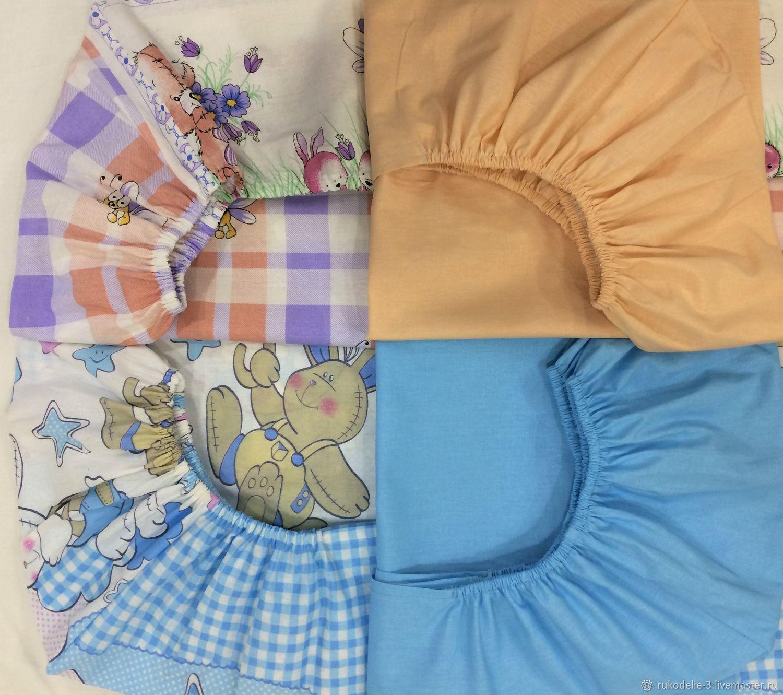 Простынь на резинке детская №21 -рр 60х120х18 см для детской кроватки, Текстиль, Балашиха, Фото №1