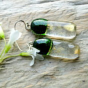 Украшения handmade. Livemaster - original item Earrings aventurine glass