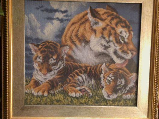 Животные ручной работы. Ярмарка Мастеров - ручная работа. Купить Красивая троица. Handmade. Разноцветный, основной цвет-оранжевый
