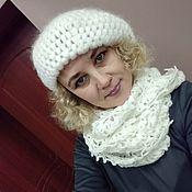 Аксессуары handmade. Livemaster - original item Beret-cap and lace Snood. Handmade.