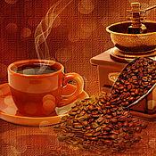 Иллюстрации ручной работы. Ярмарка Мастеров - ручная работа кофейные обои на рабочий стол. Handmade.