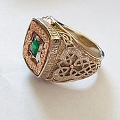 Украшения handmade. Livemaster - original item White gold ring with emerald. Handmade.