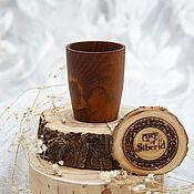 Посуда handmade. Livemaster - original item A glass of wood of the Siberian Cedar #R8. Handmade.